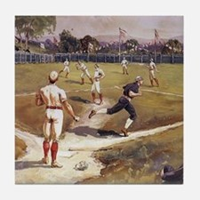 Vintage Sports Baseball Tile Coaster