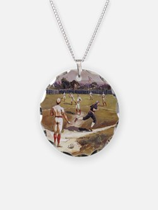 Vintage Sports Baseball Necklace
