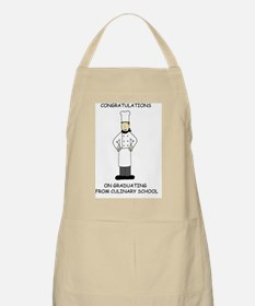 Congratulations on graduating from culinary  Apron
