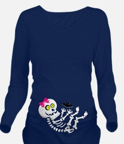 Maternity Skeleton Baby Long Sleeve Maternity T-Sh