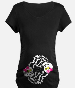 Maternity Skeleton Baby Maternity T-Shirt
