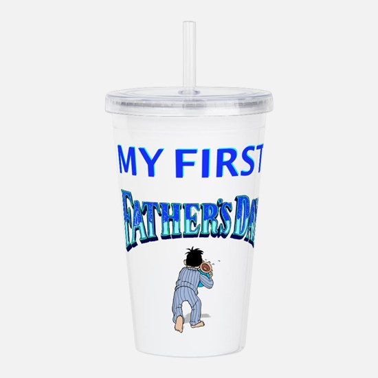 My First Father's Day Acrylic Double-wall Tumbler
