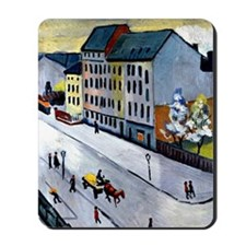 Macke - Our Street in Gray Mousepad