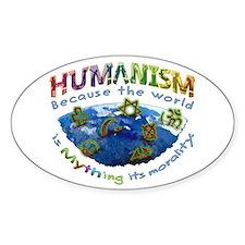Humanism vs Myth Decal
