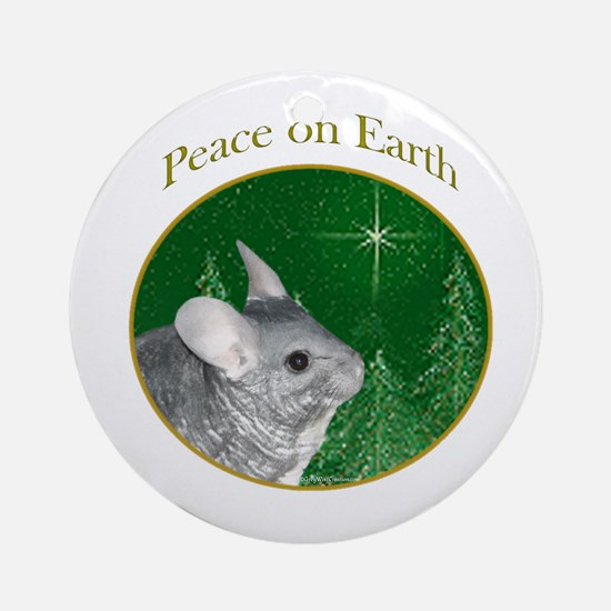 Chinchilla Peace Ornament (Round)
