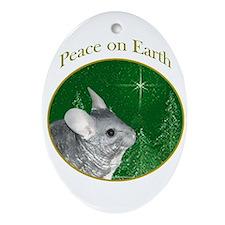 Chinchilla Peace Oval Ornament