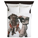 Vintage baseball Luxe Full/Queen Duvet Cover