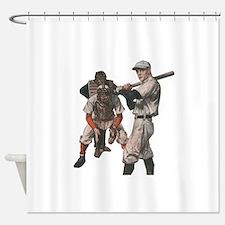 Vintage Sports Baseball Shower Curtain
