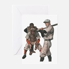 Vintage Sports Baseball Greeting Cards
