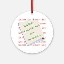 Chin Naughty/Nice Ornament (Round)