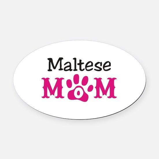 Maltese Oval Car Magnet