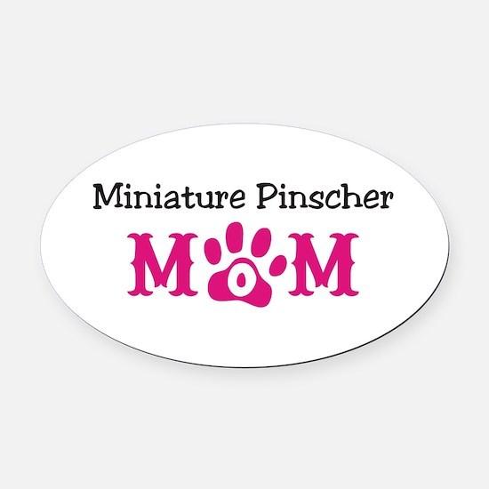 Miniature Pinscher Oval Car Magnet