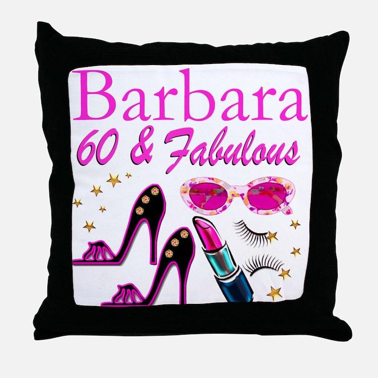 FUN FABULOUS 60TH Throw Pillow
