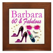 FUN FABULOUS 60TH Framed Tile