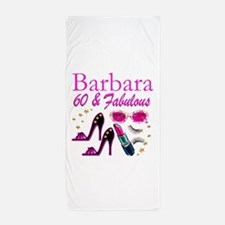 FUN FABULOUS 60TH Beach Towel