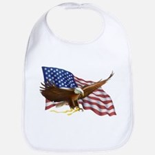 American Flag and Eagle Bib