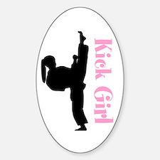 Karate Girl Decal