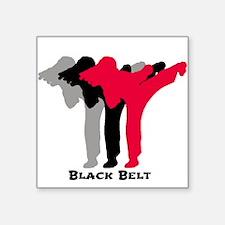 """Martial Artist Square Sticker 3"""" x 3"""""""