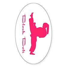 Martial Arts Black Belt Girl Decal