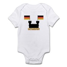 Oktoberfest Castle w/Flags Infant Bodysuit