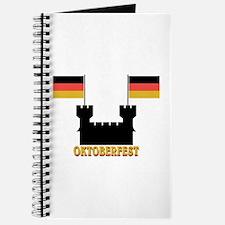 Oktoberfest Castle w/Flags Journal