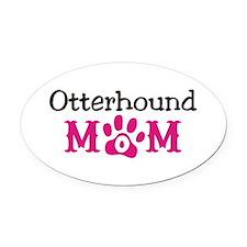 Otterhound Oval Car Magnet