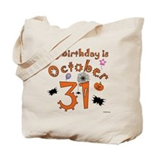 Halloween Birthday Tote Bag