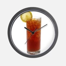 A Glass of Iced Tea Wall Clock