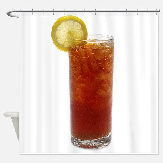A Glass of Iced Tea Shower Curtain