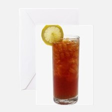 A Glass of Iced Tea Greeting Cards