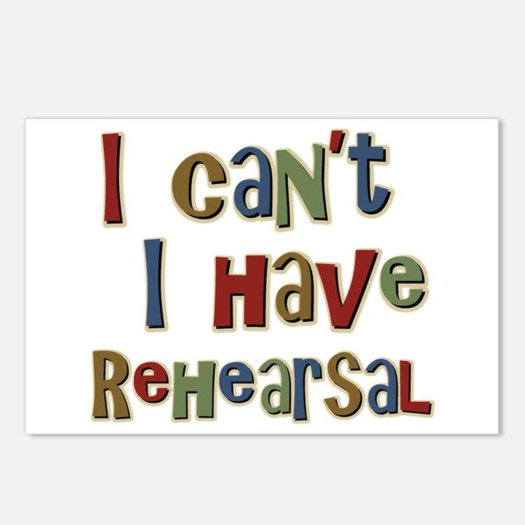 I can't I have Rehearsal Postcards (Package of 8)