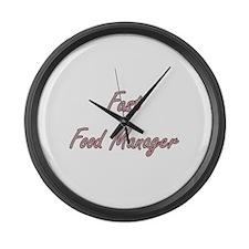 Fast Food Manager Artistic Job De Large Wall Clock