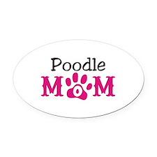 Poodle Oval Car Magnet