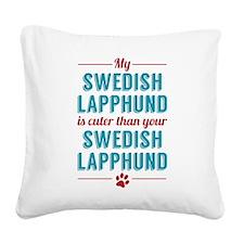 My Swedish Lapphund Square Canvas Pillow