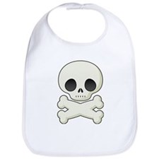 White skull and crossbones Bib