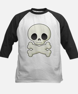 White skull and crossbones Baseball Jersey