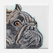 French Bulldog Brindle Tile Coaster