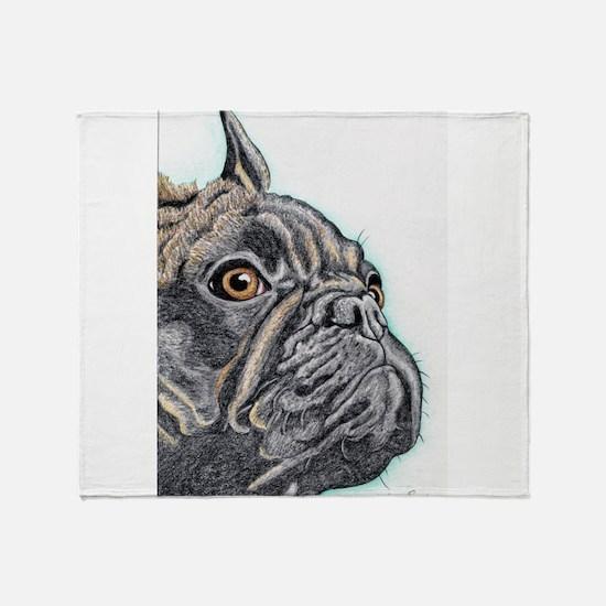 French Bulldog Brindle Throw Blanket