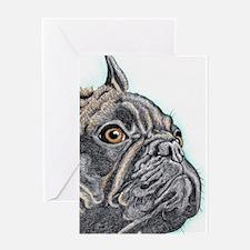 French Bulldog Brindle Greeting Cards