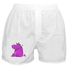 Purple Hippo Boxer Shorts