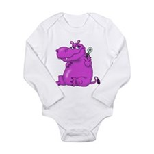 Purple Hippo Body Suit