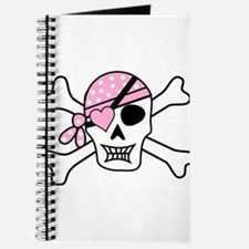 Pink Pirate Skull and Crossbones Journal