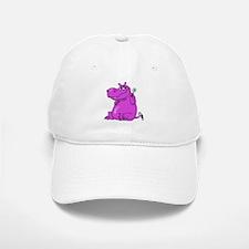 Purple Hippo Baseball Baseball Cap