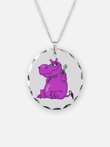 Purple Hippo Necklace