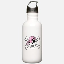 Pink Pirate Skull and Water Bottle