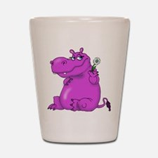 Purple Hippo Shot Glass