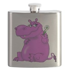 Purple Hippo Flask