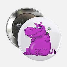 "Purple Hippo 2.25"" Button (10 pack)"