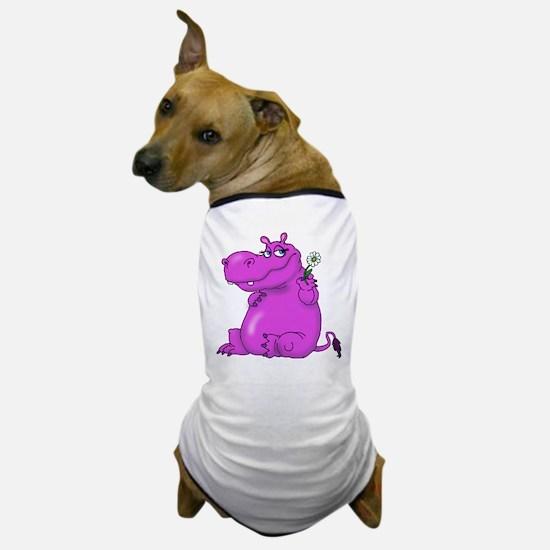 Purple Hippo Dog T-Shirt