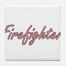 Firefighter Artistic Job Design Tile Coaster